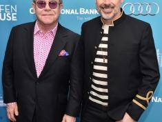 "LOS ANGELES, CA - MARCH 22:  Musician Sir Elton John and David Furnish attend The Geffen Playhouse's ""Backstage at the Geffen"" Gala at The Geffen Playhouse on March 22, 2015 in Los Angeles, California.  (Photo by Alberto E. Rodriguez/Getty Images)"