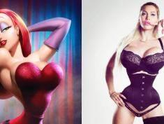 """Fanka Jessici Rabbit z """"Kto wrobił królika Rogera"""" chce wyglądać jak ona. Zobacz czy jest podobna?"""