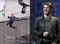 Groźny wypadek Toma Cruise'a w Londynie! Aktor chciał skoczyć z dachu [wideo]