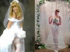 Niemożliwe, że one to założyły! Oto najdziwniejsze suknie ślubne