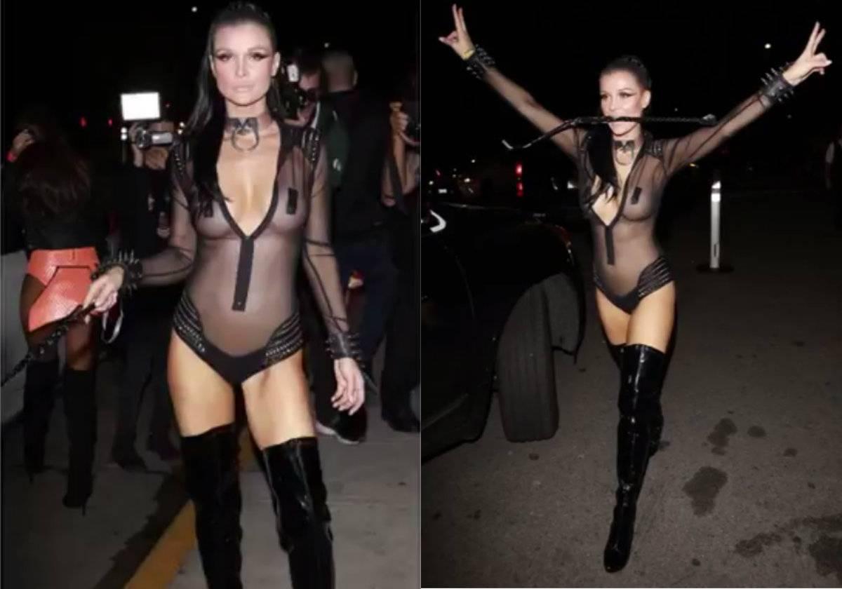 Joanna Krupa kusi nagimi piersiami na Halloween. Co za ciało!