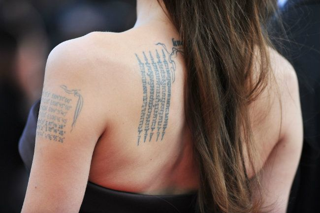 Mistyczne Tatuaże Brada I Angeliny Miały Związać Małżeństwo