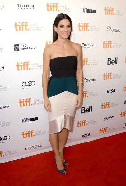 TORONTO, ON - SEPTEMBER 08: Actress Sandra Bullock attends the 'Gravity' premiere during the 2013 Toronto International Film Festival at Princess of Wales Theatre on September 8, 2013 in Toronto, Canada. (Photo by Jason Merritt/Getty Images)
