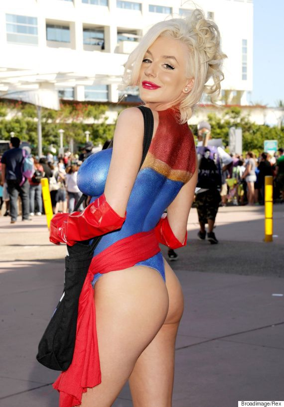 Mandatory Credit: Photo by Broadimage/REX Shutterstock (4900656n) Courtney Stodden PETA photocall at Comic-Con, San Diego, America - 10 Jul 2015 2015 Comic-Con International: San Diego -  Day 2 - PETA  Photo Call